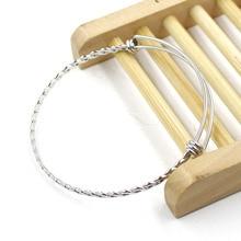 1pcs/lot Twisted Stainless Steel Adjustable Bangle Bracelet – Braided Bangle Bracelet Sample Order