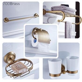 Solid Brass Bathroom Accessories, Luxuary Style, Towel Rack, Soap Basket, Toilet Brush Holder, Bar, Ring, Robe Hook, F6700 Туалет