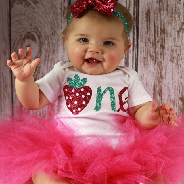 bc1347ee6 Newborn Baby Girl Clothes Sets Toddler Princess First Birthday ...
