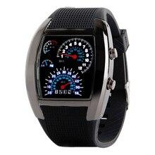 2018 Fashion Creative Women Men Casual LED Digital Display Silicone Band Dashboard Sports Wrist Watch все цены