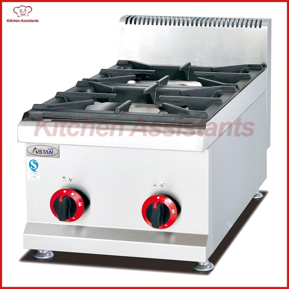 Haushaltsgeräte Gh537 Gasherd Mit 2 Brenner Für Gewerbliche Nutzung Starker Widerstand Gegen Hitze Und Starkes Tragen