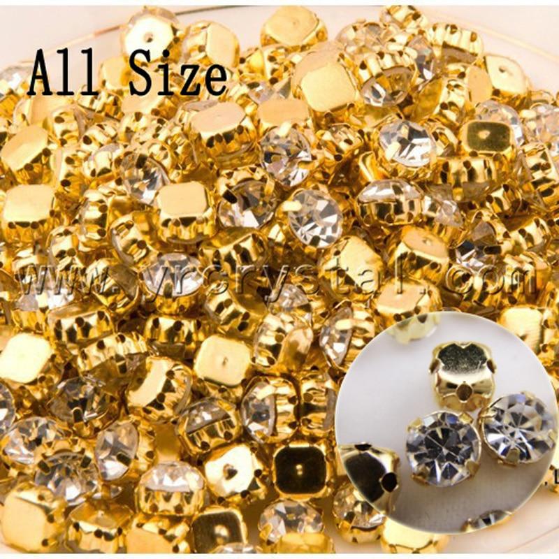 SS12-SS45 Guldfärg i olika storlek Sy på stenglas Crystal Shinny - Konst, hantverk och sömnad - Foto 1