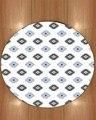 Еще белый пол на Геометрическая плитка серый синий Nordec 3d печать противоскользящие назад круглые ковры области ковер для гостиной ванной ко...