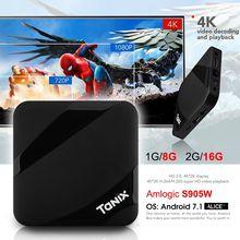 Tanix TX3 Max TV Box Android 7.1 Amlogic S905W 2GB 16GB BT4.1 HDMI 2.0 H.265 Wifi 2.4G Set Top Box Media Player PK TX3MINI
