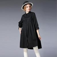 2018 New Plus 5XL Size Blouse Women Cotton Long Asymmetr Summer Blouse Brand Jianruyi Large Size