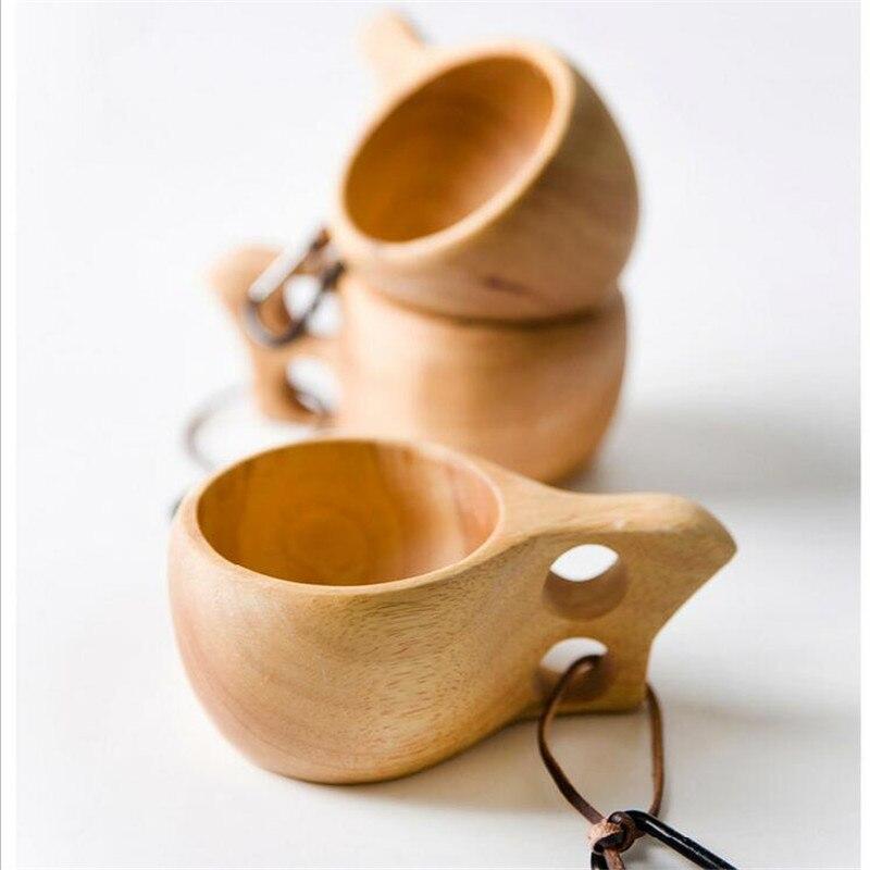 Chinesische Tragbare Kaffee Becher Gummi Holz Tee Milch Tassen Wasser Trinken Tassen Drink Handgemachte Saft Zitrone Teetasse Büro Geschenk