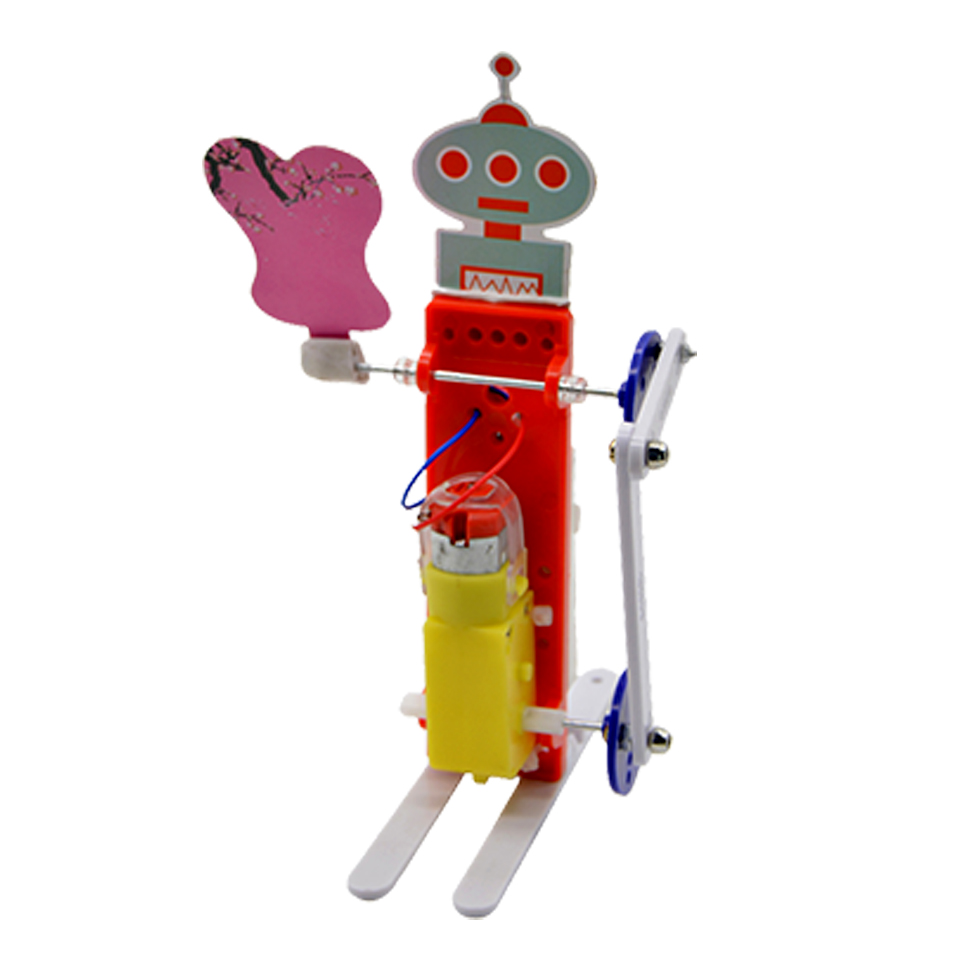 Educational DIY Toy Electric Rocking Fan Robot (2pieces)