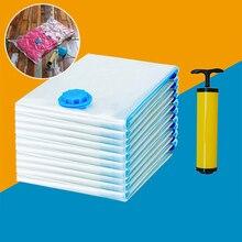 5 шт. домашний вакуумный мешок для хранения одежды на присоске, Прозрачный складной сжатый органайзер, пакет для хранения для кемпинга и путешествий