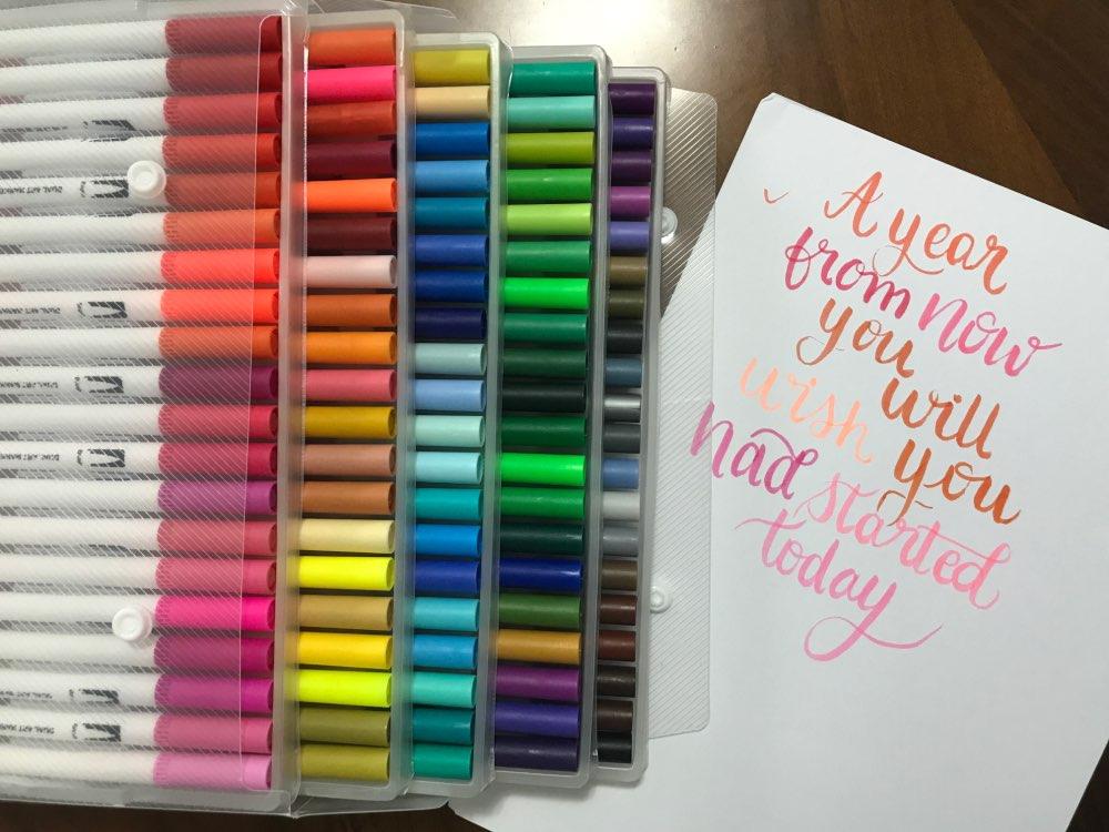 Watercolor Brush Pens Set Dual Tip photo review