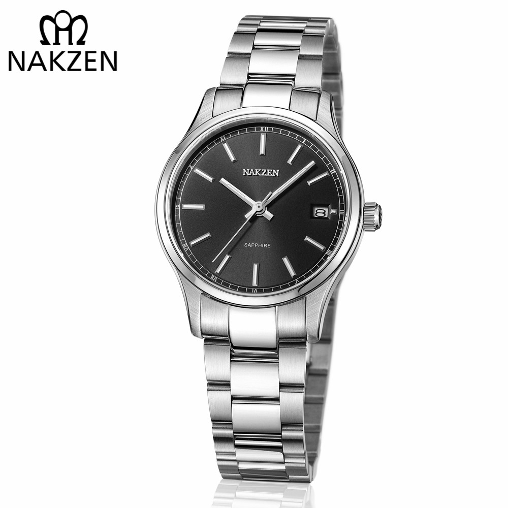NAKZEN Black Watch Women Quartz Watches Ladies Top Brand Luxury Stainless Steel Female Wrist Watch Girl Clock Relogio Feminino nakzen quartz women watches top brand fashion ladies bracelet watch rhinestone crystal wrist watch female hers relogio feminino