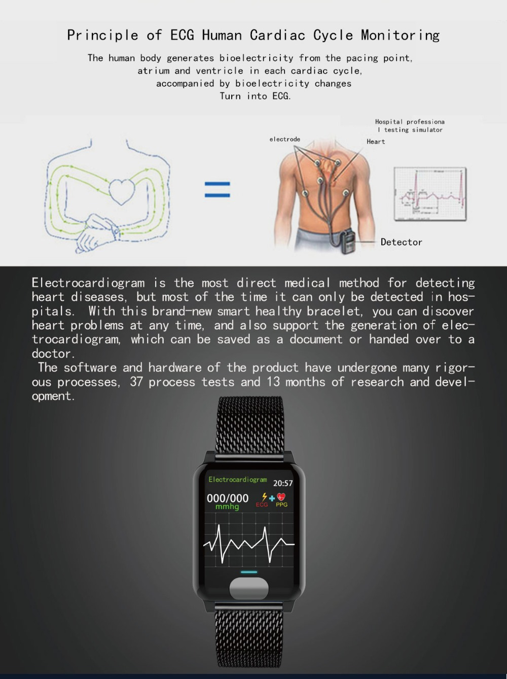 I-SWIM E04 Smart Band Fitness Tracker ECG/PPG Blood Pressure Heart Rate Monitor Waterproof Smart Watch for Xiaomi Android IOS 4