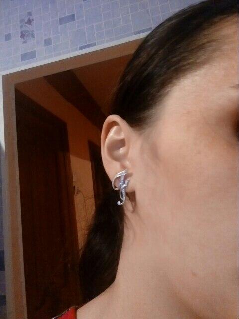 A- S 26 Letters Silver Stud Earrings - Je16*