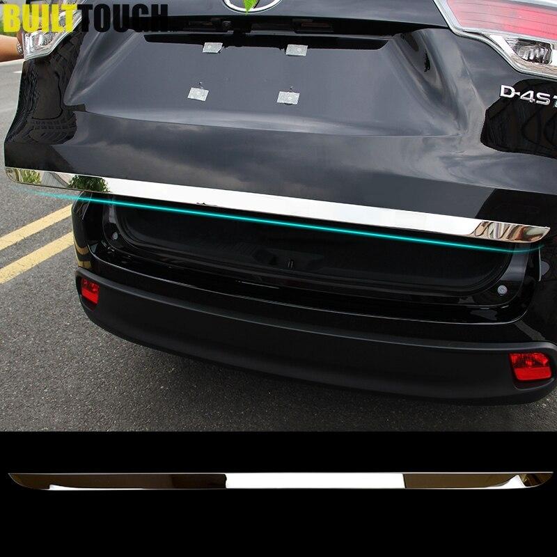 Prix pour Tail Gate Couverture Garniture Pour 2014 2015 2016 2017 Toyota Highlander Kluger Chrome Arrière Tronc Accent Porte Moulage Bande Styling