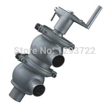 1 ''dn25 ss304, из нержавеющей стали Ручка реверсивный клапан, санитарная клапан бабочка