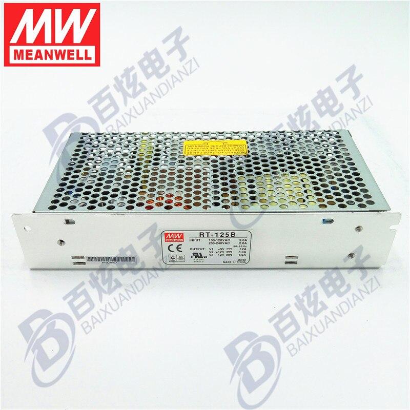 все цены на Originele Meanwell  RT-125B  132W Triple output +5V/12A  +12V/5A   -12V/1A   Voeding 3years Warranty онлайн
