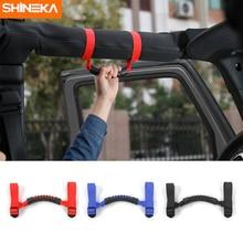 SHINEKA 4x4WD Armrest Top Grab Handles Grip Bar Pulling Tab Roll Bar Mount For Jeep Wrangler CJ TJ JK JL Sports Sahara Rubicon