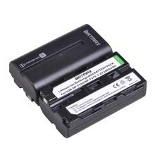 2Pcs 2600mAhNP-F550 NP F550 NPF550 Rechargeable Li-ion batteries for Sony NP-F330 NP-F530 NP-F570 NP-F730 NP-F750 Hi-8