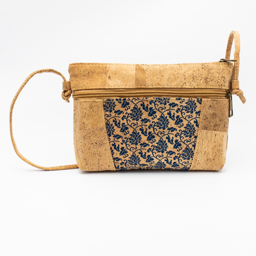 все цены на cork bags cork Shoulder Bags for women Natural Cork body cross bags with blue flower Pattern Bag-261-H онлайн