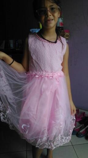 vestidos de fiesta de noche Baby Girl Princess Ball Gown Dress Lace Flower Girl Bridemaid For Wedding Party Prom Dresses
