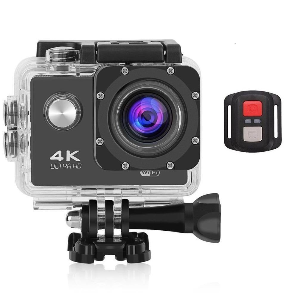 Ação cam gopro esporte câmera 4 k sem fio com eu enviar hd completo universal com todos os acessórios 16mp água bicicleta esporte