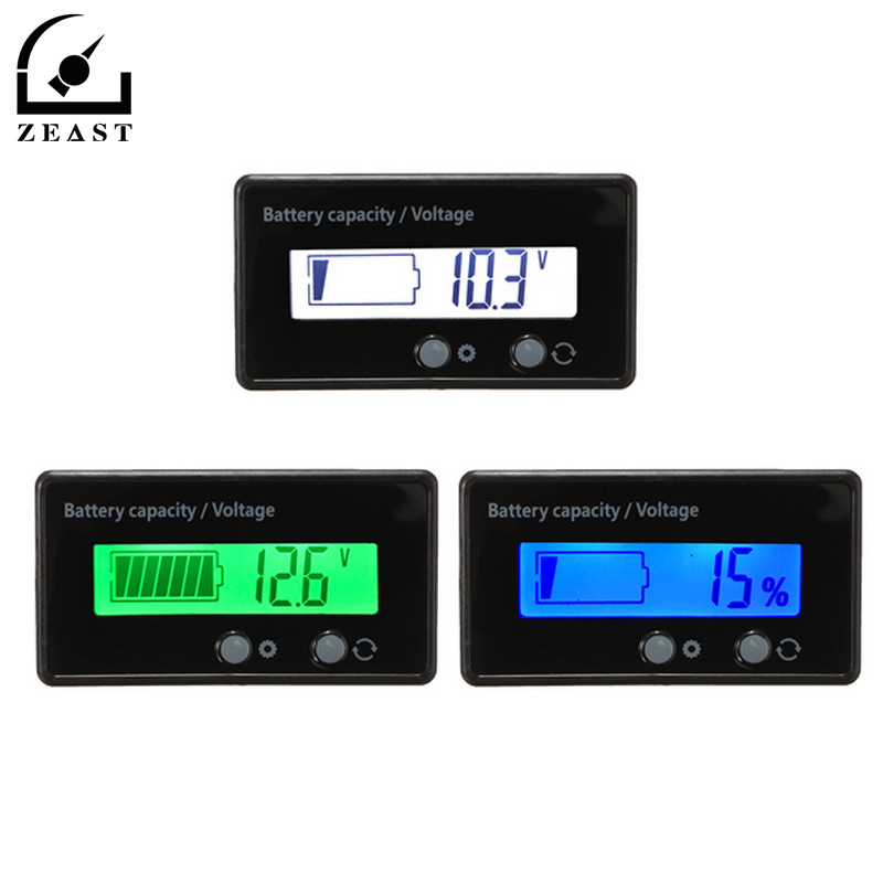 Digital Battery Tester 12V 24V 36V 48V Voltage meter Voltmeter LCD Acid Lead Lithium Capacity Indicator Volt Power Supply дмитрий goblin пучков игорь викентьев про а с пушкина