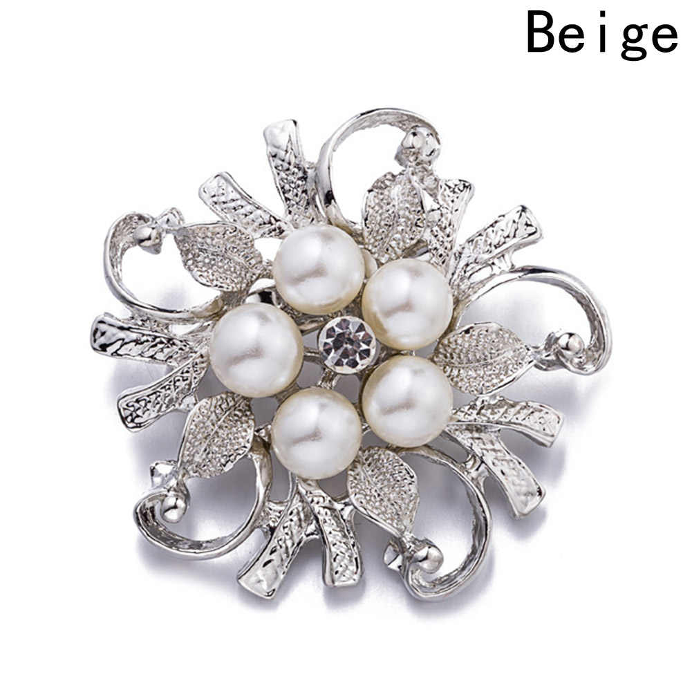 Cute Brooches For Women Vintage Imitation Pearl Brooch Female Jewelry Collar Flower Leaf Broches Pins