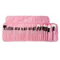 Free Shipping Stock Clearance 32Pcs Print Logo Makeup Brushes Professional Cosmetic Make Up Brush Set The