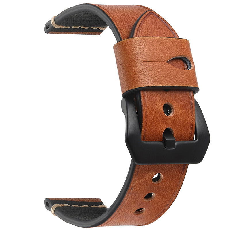 EACHE 20 22mm 24mm watchband straps Crazy Horse 100% Genuine Leather men Watchband with Handmade for samsung gear s3 men's watch new matte red gray blue leather watchband 22mm 24mm 26mm retro strap handmade men s watch straps for panerai