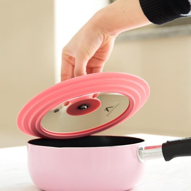 Стеклянная крышка из силикагеля для приготовления пищи, силиконовая крышка для кастрюли с молоком, сковорода, всплеск, масло, высокая темпе