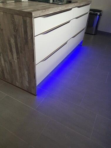 Luzes LED p/ bar perfil alumínio transparente