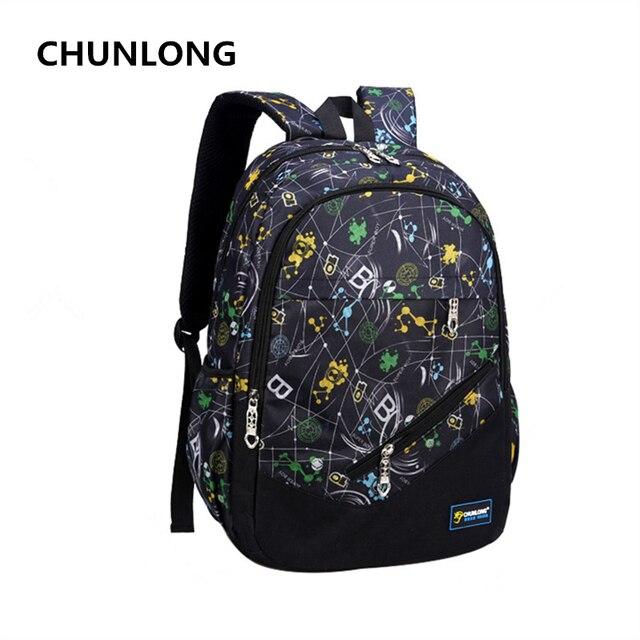 59585e3154c CHUNLONG merk licht ademend kinderen leuke schooltassen voor meisjes  Modieuze canvas rugzakken schooltassen schooltas rugzak