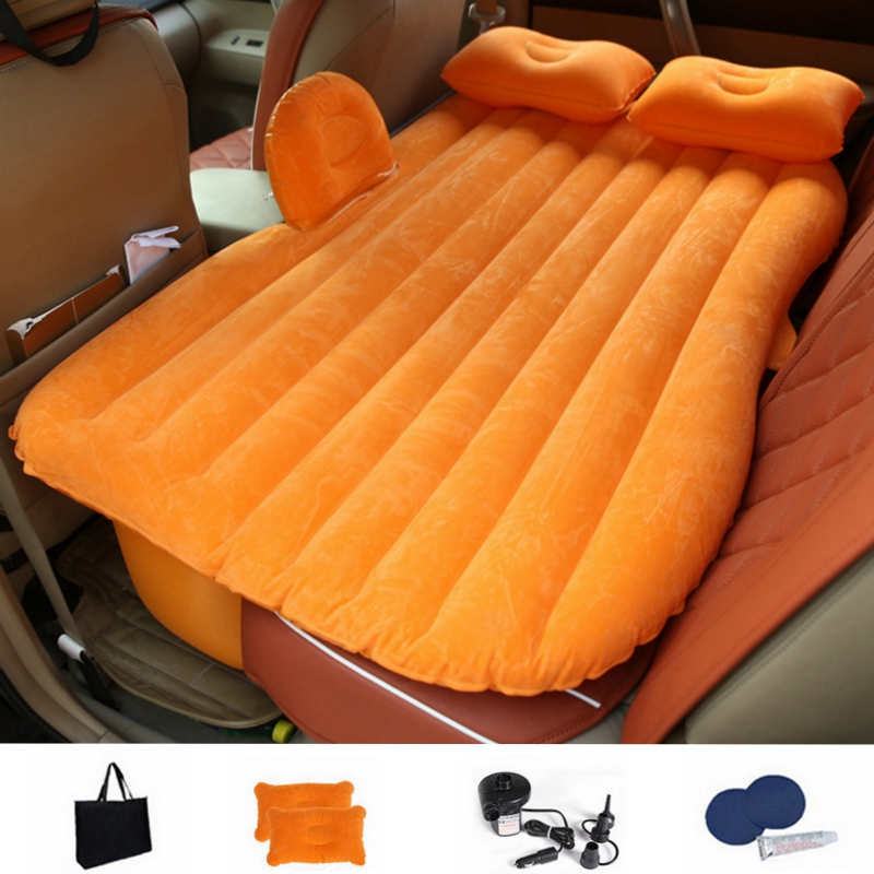 Flocking Cloth Car Back Seat Cover Air Mattress Travel Bed Inflatable Mattress Air Bed Inflatable Bed Travel Kit Camping Mat Sports & Entertainment Camping Mat