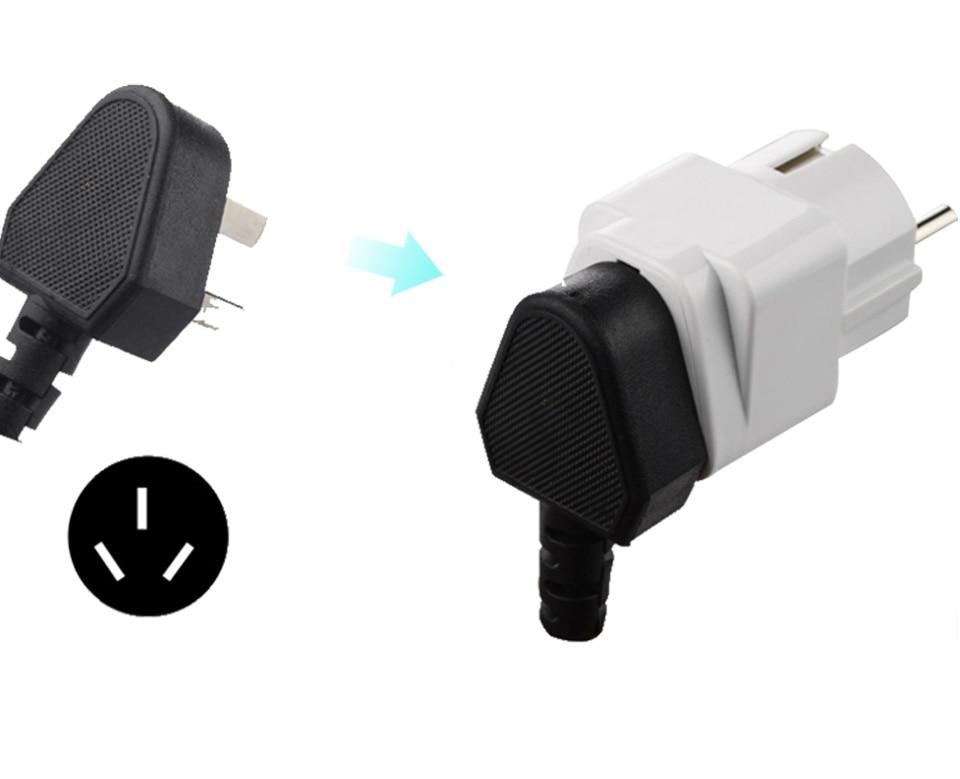 European EU Plug Adapter Japan China American Universal UK US AU To EU AC Travel Power Adapters Converter Electrical Charger (9)