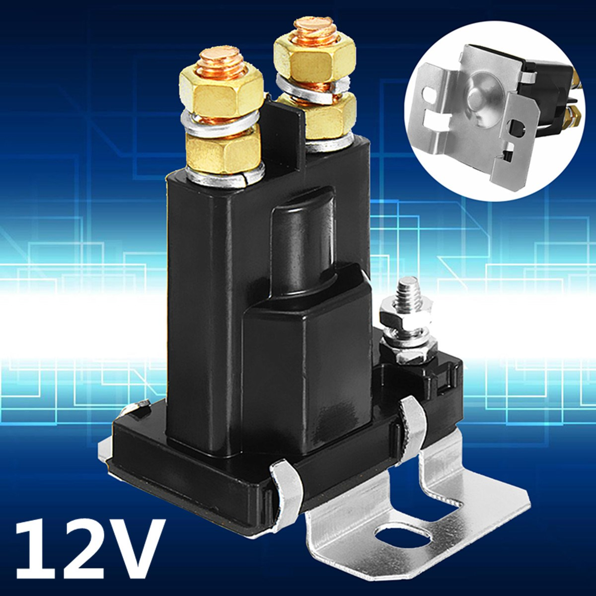 цена на High Current 500A Amp Relay DC 12V 24V 4 Pin Continues Working Auto Power Switch On/Off Control For Car Motors Drives