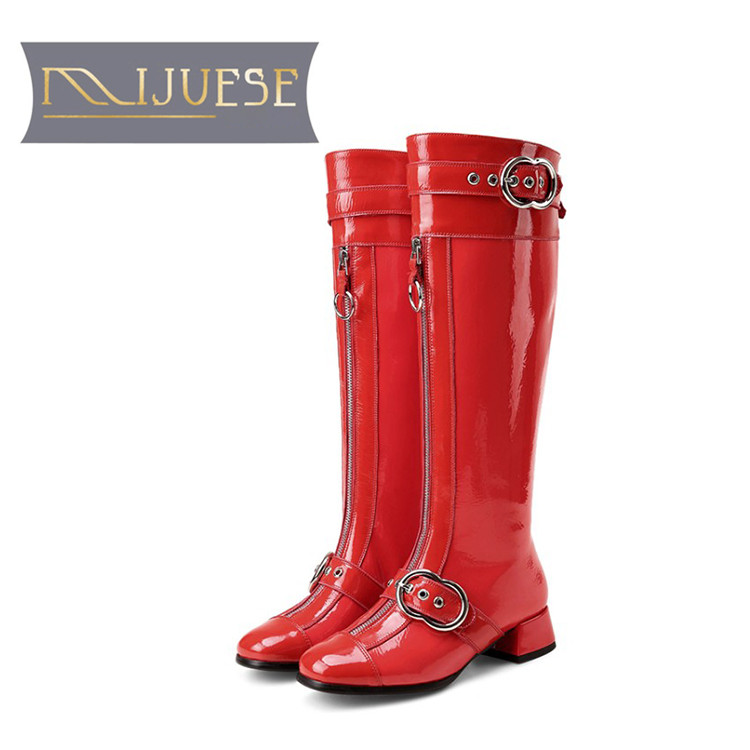 MLJUESE 2018 women Knee-high boots cow leather winter short plush women boots female motorcycle boots party dress size 34-43MLJUESE 2018 women Knee-high boots cow leather winter short plush women boots female motorcycle boots party dress size 34-43