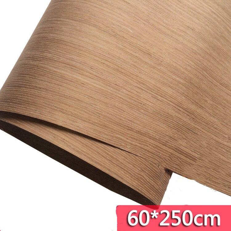 Technical Veneer Sliced Wood Engineering Veneer E.V. Light Coffee 60x250cm Tissue Backing 0.2mm Thick Q/C
