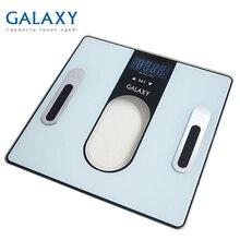 Весы напольные Galaxy GL 4852 (Максимальная нагрузка до 180кг, точность измерения 100грамм, LCD-дисплей, ультратонкий дизайн, измерение уровня жира и воды в организме, мышечной и костной массы)