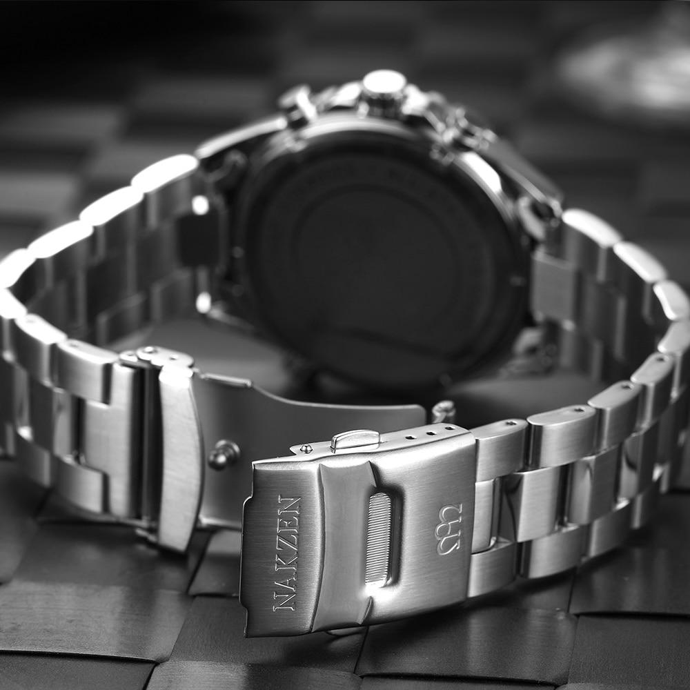 NAKZEN Business Blue Men Wirst Watch Sport Zegarki kwarcowe ze stali - Męskie zegarki - Zdjęcie 6
