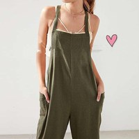 S XL Women Military Strappy Dungaree Overalls Casual Loose Harem Romper Jumpsuit Bib Cargo Pants Long