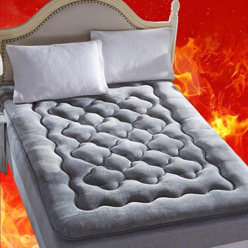 Matratzen 2018 Verdicken Berber Fleece Winter Bett Matratze Sleeper Pad Baby Zimmer Teppich Tatami Teppich Hause Bettwäsche Kissen Fußmatten