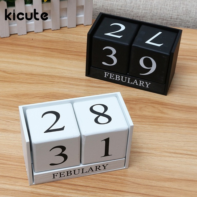 Molto Kicute Europeo Calendario Perpetuo Calendario Desktop Pen Holder  EM54