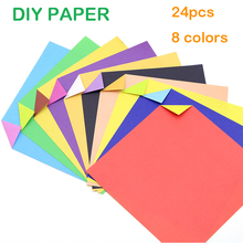24pcs 15*15cm Square Double Sided Coloured Origami Paper for DIY Handicraft Paper Folding Home Party Wedding Paper Cutting цена и фото