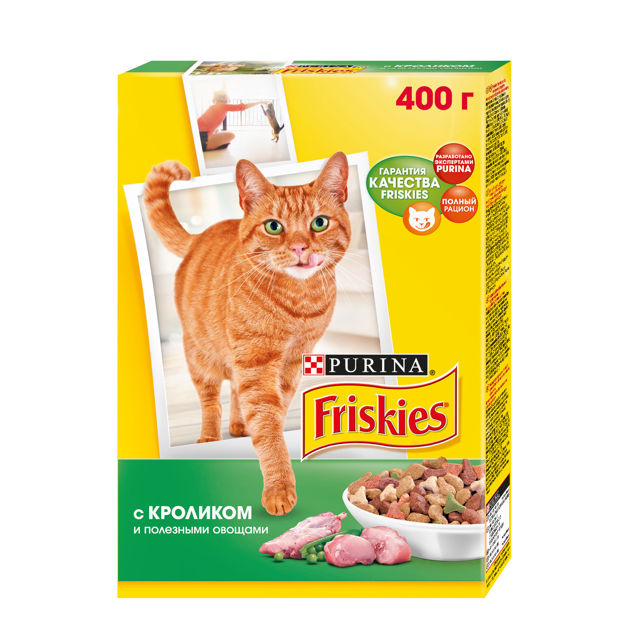 все цены на A set of dry food Friskies for adult cats with a rabbit and healthy vegetables, Cardboard box, 400 gx 10 pcs. онлайн