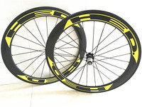 700C Straight pull Powerway R36 hubs carbon wheels 50mm road bicycle wheels 23mm width clincher 60mm 700c clincher rims