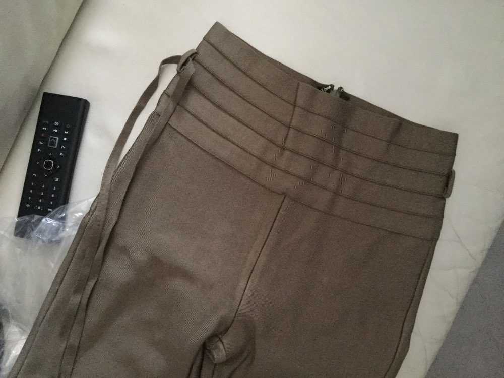 Women High Waist Ladies Bandage Women Pants Leggings Evening Party Club Bodycon Solid Casual Long Pencil Pants photo review
