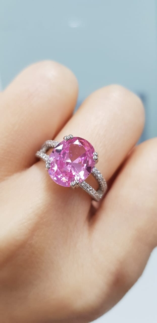 Beautiful Pink Cubic Zirconia Ring photo review