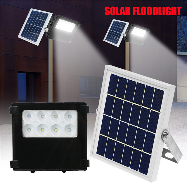 Smuxi 8led solar led flood light outdoor light for garden yard wall smuxi 8led solar led flood light outdoor light for garden yard wall lamp floodlight 10w ip65 aloadofball Images
