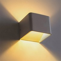 Smuxi Fashion Cube LED Wall Lamp 5W AC180 280V Home Decorate Sconce Bedroom Led Wall Light