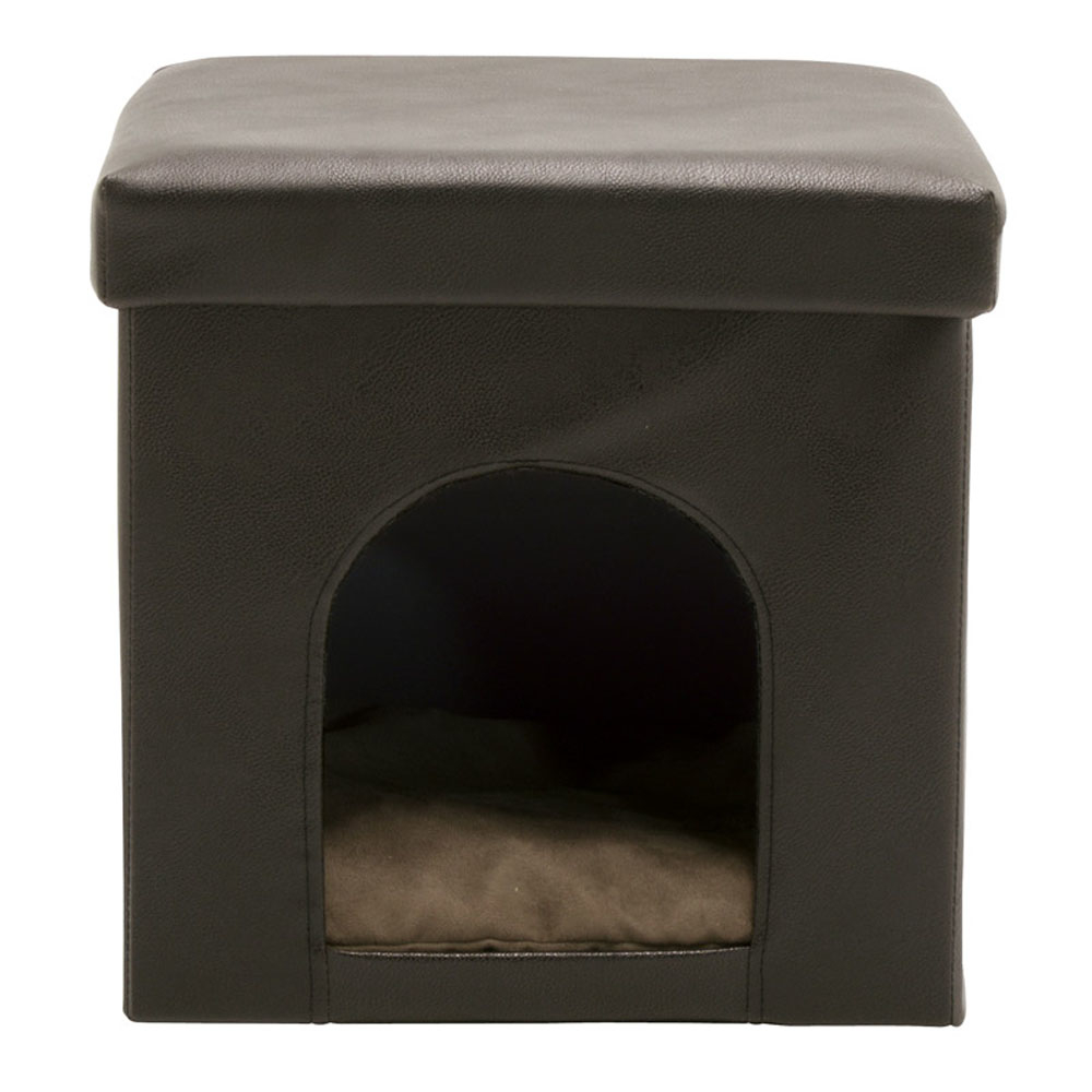Offex Home Office Collapsible Pet Bed and Ottoman - Brown offex home office plinth ottoman dark taupe