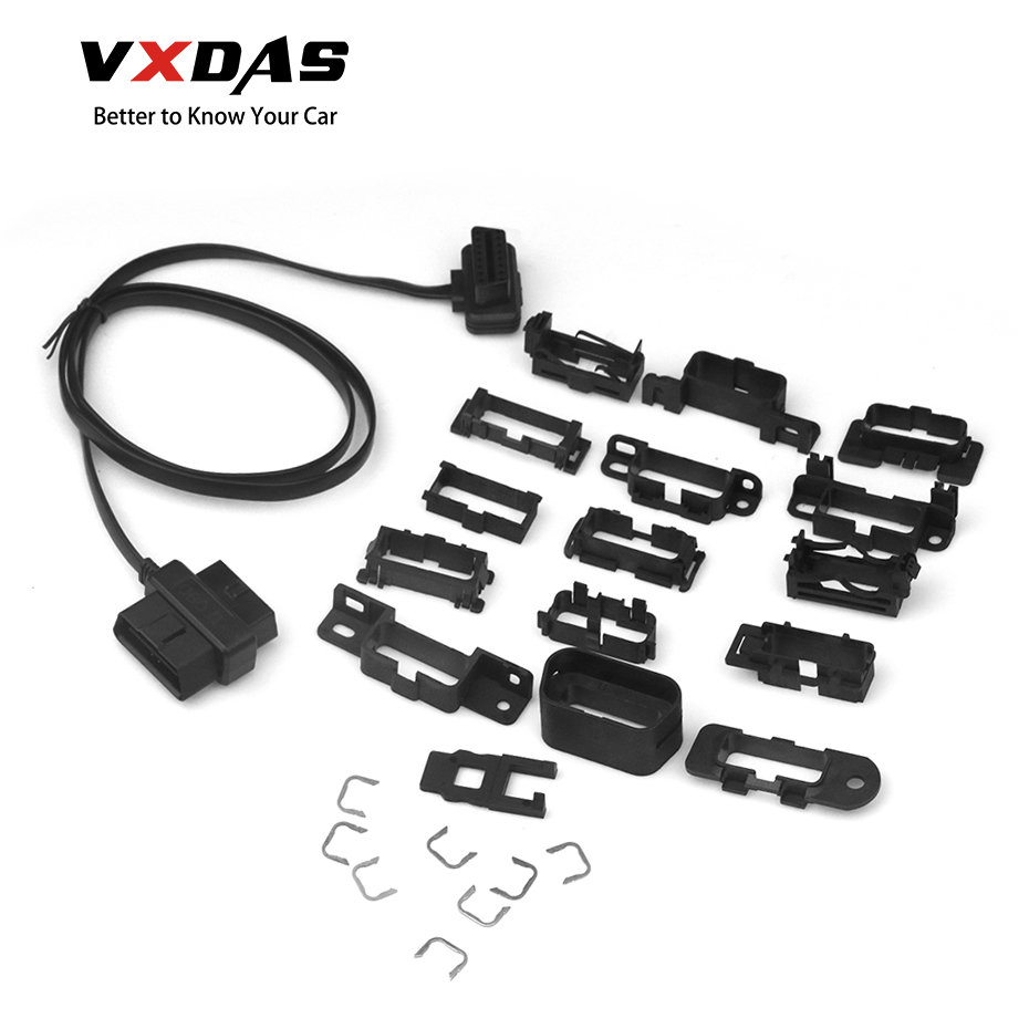 Image 1 - VXDAS Universal Harness Kit Splitter Extension 16Pin OBD T Cable Car/Auto Plastic Flange Mount Brackets 8V 36V Adapter Mount-in Car Diagnostic Cables & Connectors from Automobiles & Motorcycles